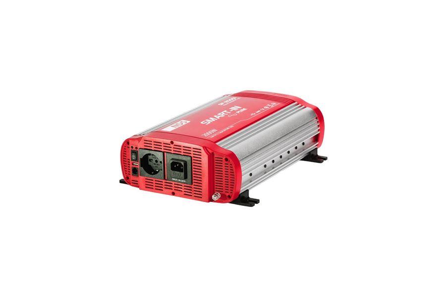 Inverter 2000w ren sinus med prioritetskontakt til alle 220V stik - (Eftermonteret)