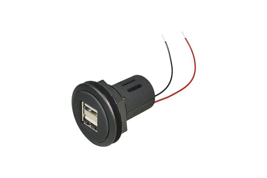 USB Dobbeltstik 5V 2,5A - (Eftermonteret)