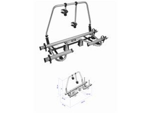 """Cykelstativ Thule """"SuperB"""" 2+1 Cykler + adapter, monteret på forende"""