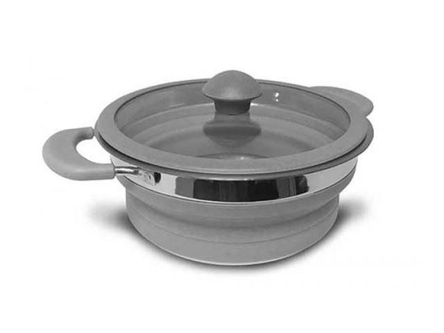 Collapsible Saucepan 1L Grey