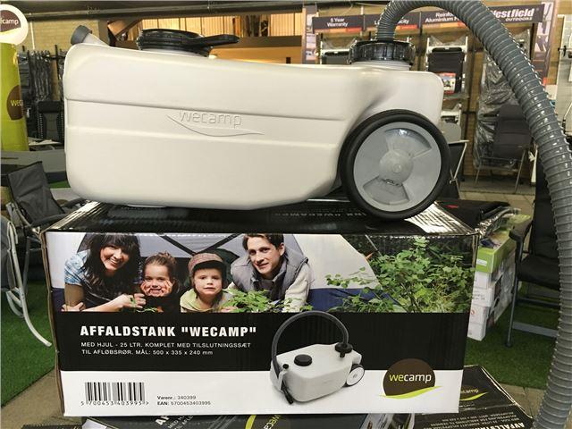 """Affaldstank """"Wecamp"""" på hjul 25 ltr. Grå"""