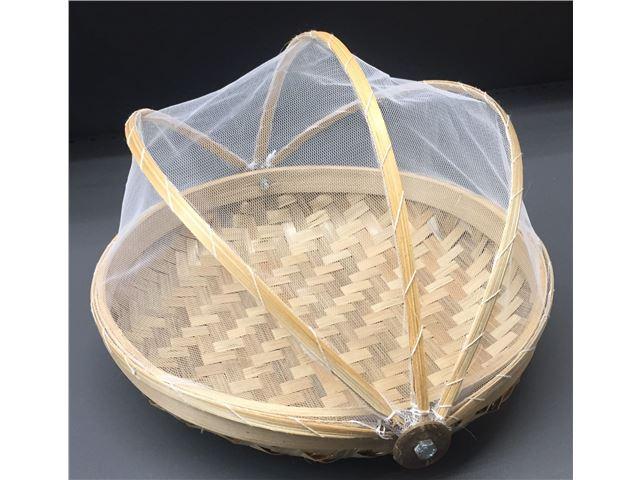 Bambus lille kurv m/net
