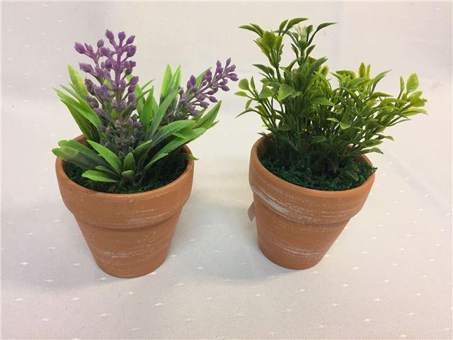 Kunstig plante i krukke