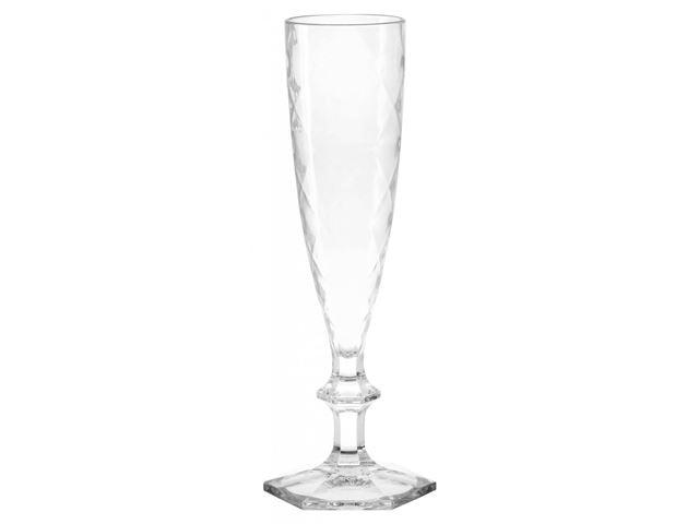 Blue Dancer - Champagneglas