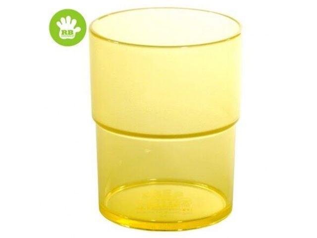 Børne stabel glas gul 16 cl.