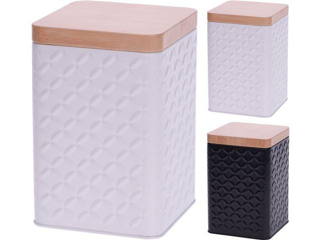 Opbevaringsdåser i 2 farver, hvid el. sort