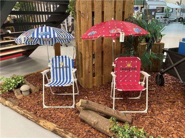 Børnestol med parasol