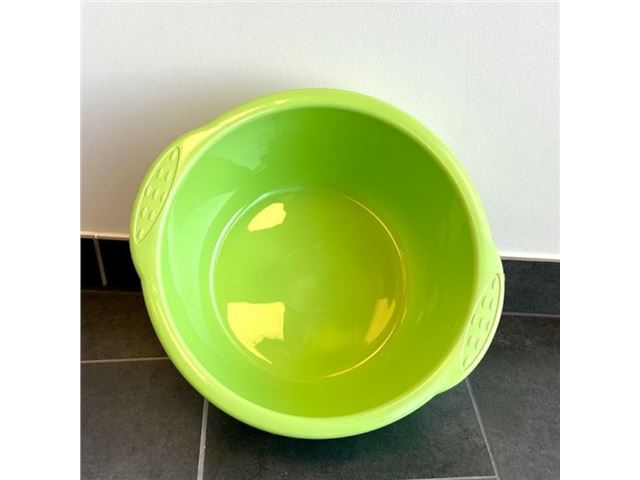 Rund opvaskebalje - blå/grøn
