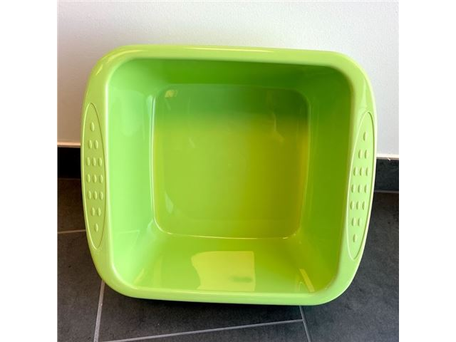 Firkantet opvaskebalje - blå/grøn
