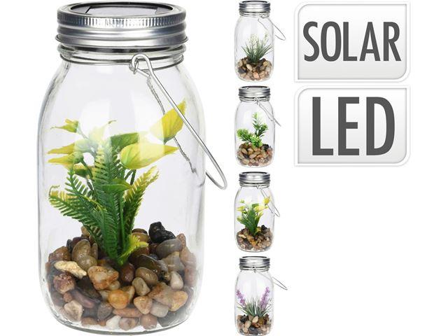 Solcelle Glas med planter