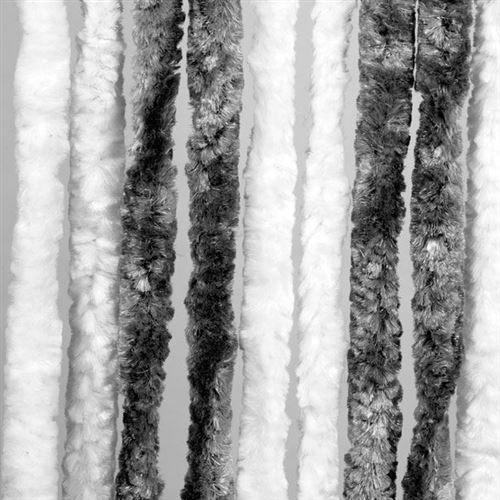 Arisol dørforhæng - grå/hvid