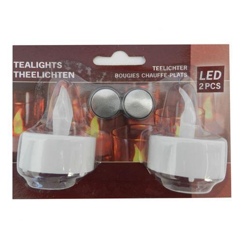 Tealights - 2 stk med batterier