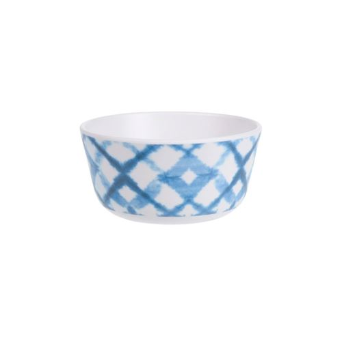Melamin tapasskål - Lys ass. blå mønstre