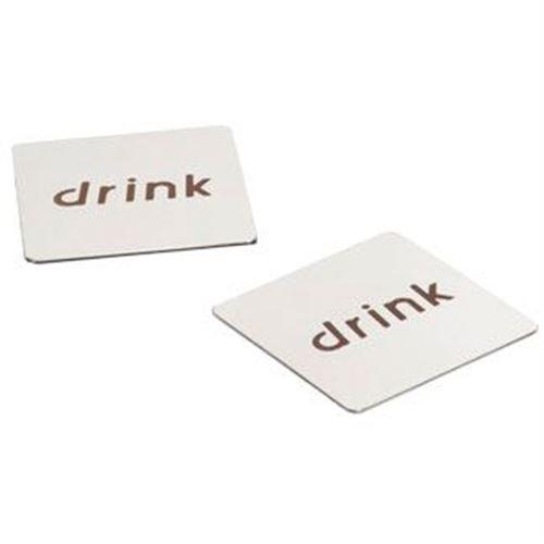 Drikkebrikker - bordskåner i metal 2 stk - Drink