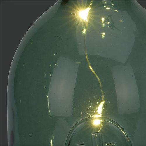 Glasflaske med ledlys 30,5 cm