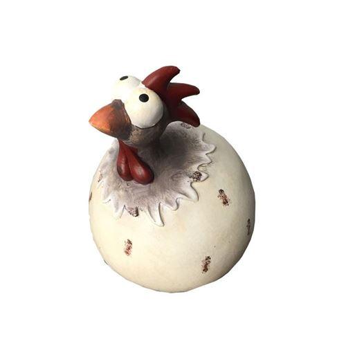 Keramik høne ass. H. 12 cm