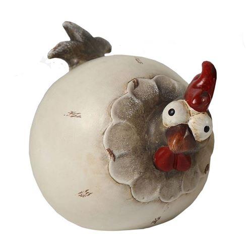 Keramik høne ass. H. 15 cm