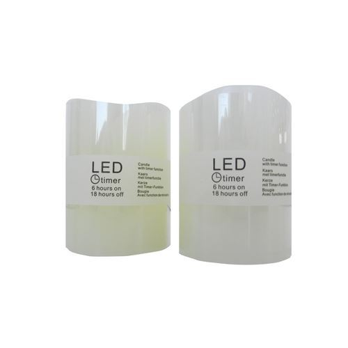 LED stearinlys med timer 7 cm