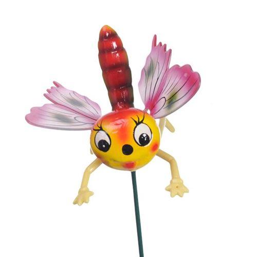 Lille bevægelig og farverigt insekt på pind - ass. farver