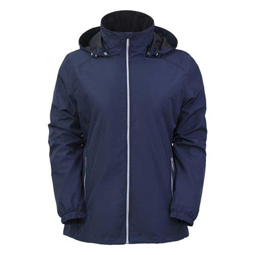 Tuxer Anna vind- og vandtæt jakke W/R 3000 forår/sommer - Dark Navy - Small
