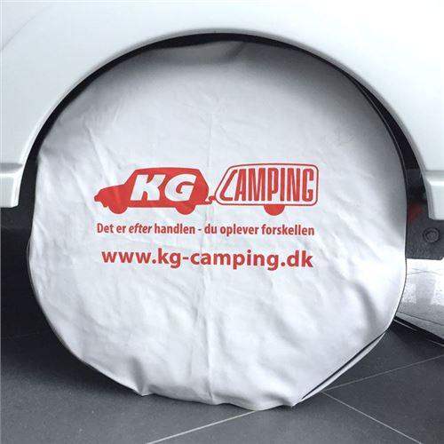 Hjulafdækning til campingvognen - HVID