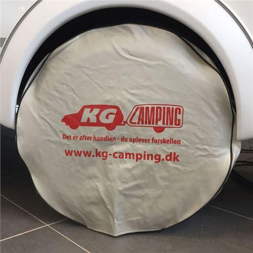 Hjulafdækning til campingvognen - sølv