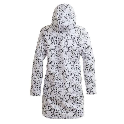 Tuxer Electra lang regnfrakke - med reflekterende White Splash - Medium