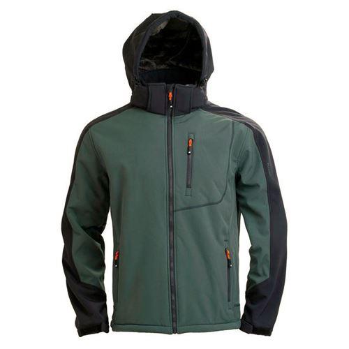 Tuxer Shawn - Vind-/vandtæt jakke med foer  Str. M W/R 5000 Bottle Grey