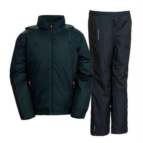 Tuxer Rain Set - regntøj W/R 5000 - Str.M   sort - herremodel