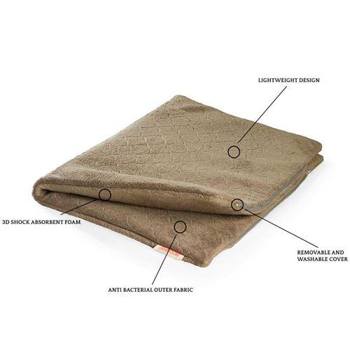 Siccaro fugtabsorberende hundetæppe, Flex Dog Mat bamboo - Pris fra
