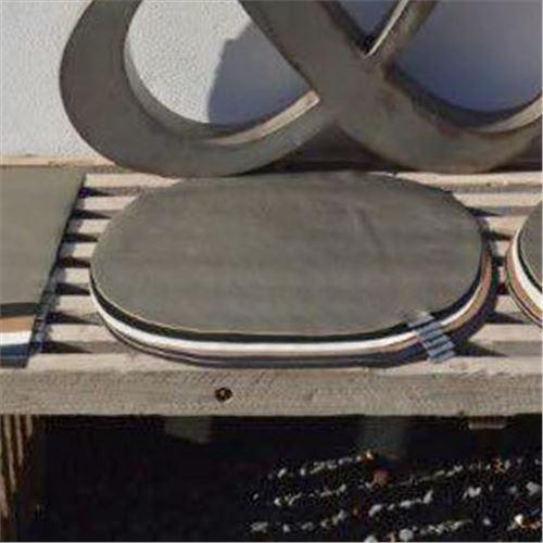 Dækkeserviet - læder-look - Oval fra Hvid & co - vælg farve