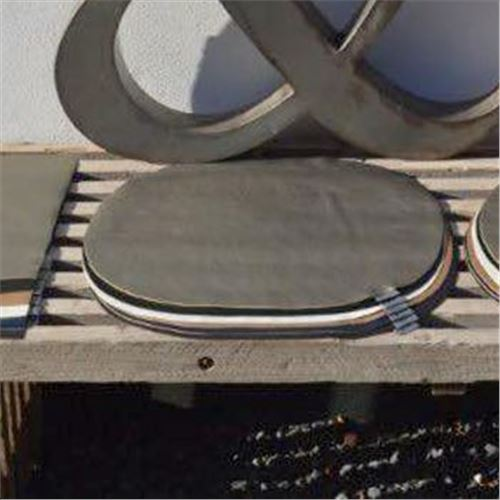 Dækkeserviet - læder-look - Oval fra Hvid & co - Sort