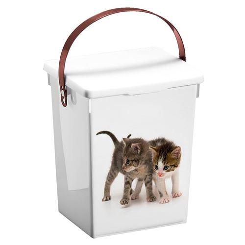 Foderspand 5L med låg Hunde eller Katte motiv