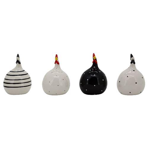 Høns i keramik - pr. stk - vælg design