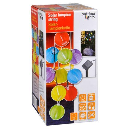 Mini solcelle lyskæde med rislamper - 10 LED - 240 cm