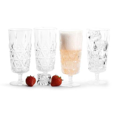 Sagaform Picknick Prosecco glas 4 stk