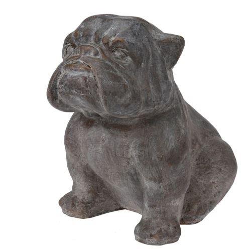 Havefigur i fibercement - Engelsk bulldog