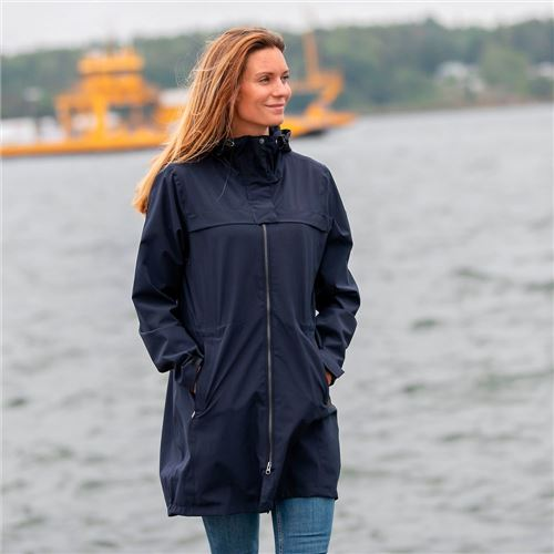 Tuxer Stay vand- og vindtæt damejakke Dark Navy