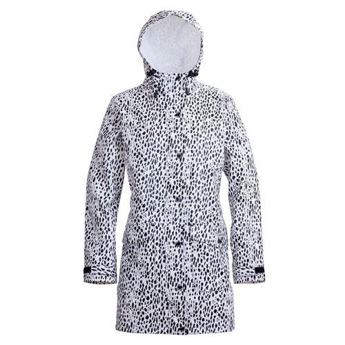 Tuxer Electra lang regnfrakke -  med leopard print