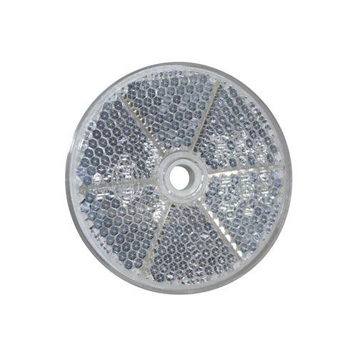 Hvid refleks til påskruning, Ø 60 mm