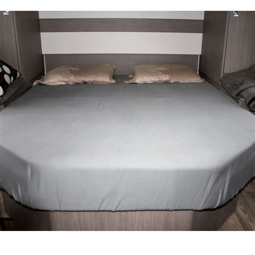 Faconlagen GRÅ, til fritstående seng, 165 cm