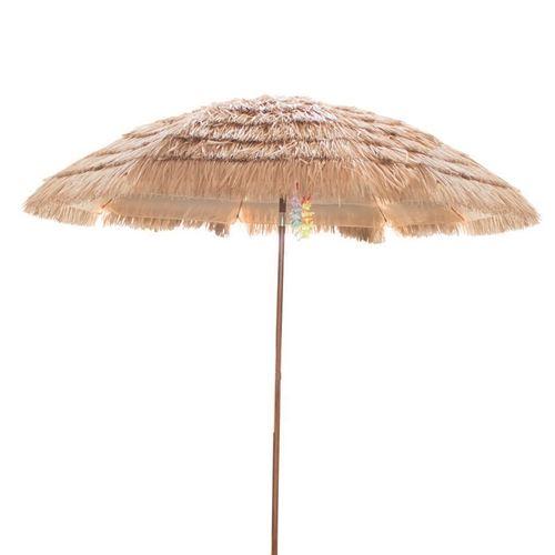 Tiki stor bast Strandparasol - Ø240 cm