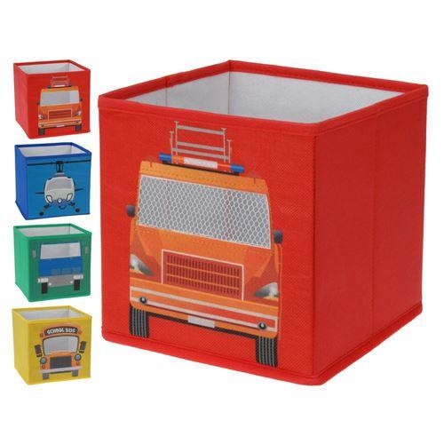 Opbevaringsbox til legetøj - foldbar 21x21x20 cm