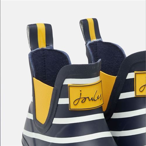 Tom Joules gummistøvle kort - Navy Engineered Stripe