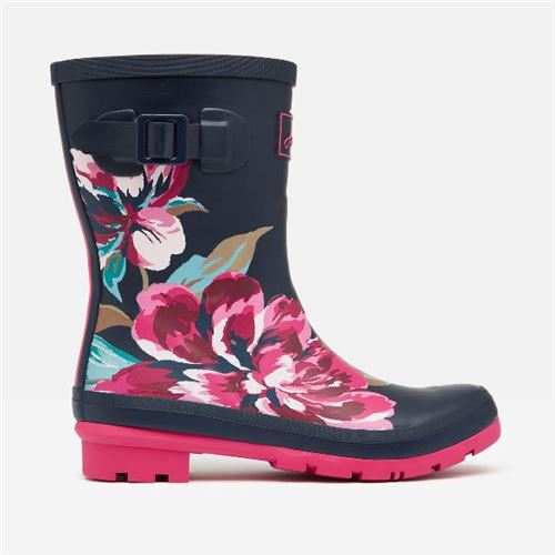 Tom Joules gummistøvle Navy All Over Flowers - Mid