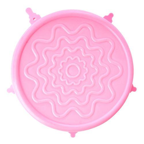 RICE silikonelåg til skåle ø15cm - rosa