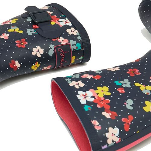 Tom Joules gummistøvle Navy Blossom - Mid
