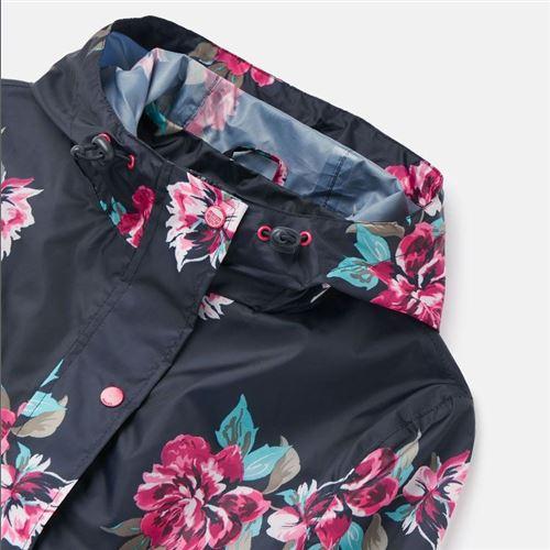 Joules Navy Floral Regnfrakke - Packaway