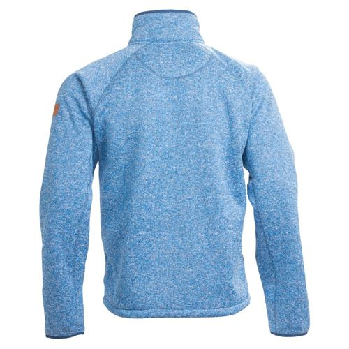 Tuxer Odie - strikjakke med fór - Speed blue