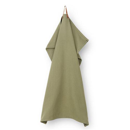 Rosendahl viskestykke m/læderstrop. 50 x 70 cm. Grøn. NYHED